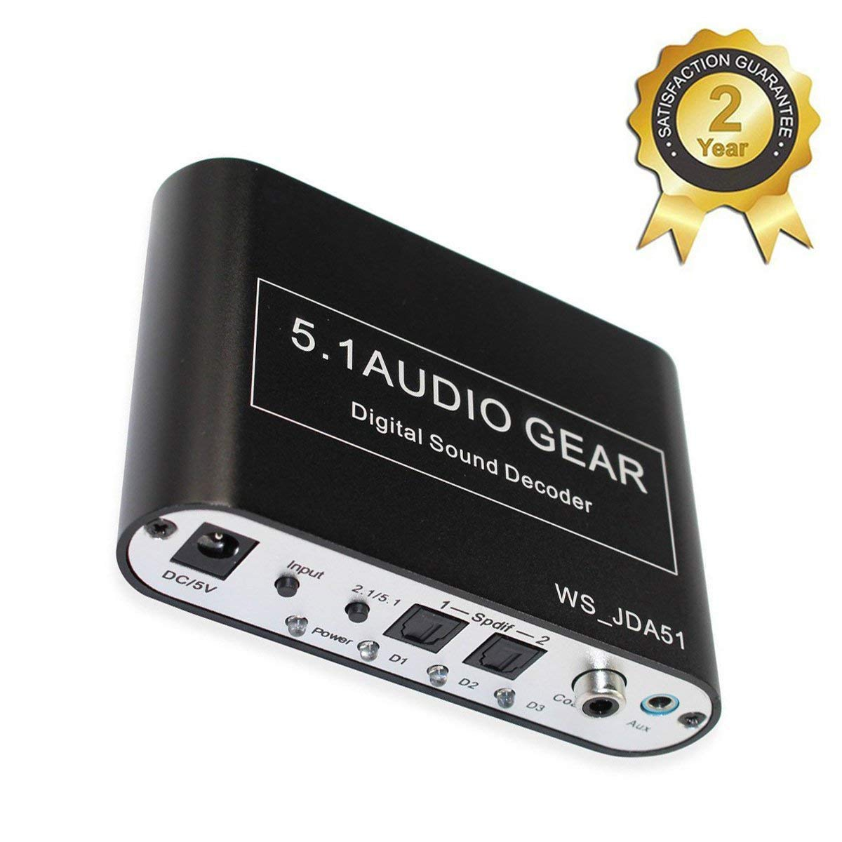 5.1 Audio Gear Digital Sound Decoder Converter - Optical SPDIF/Coaxial AC3/DTS To 5.1Analog output - support DTS/AC-3/PCM for HD player Blu-ray DVD PS3 PS4 and Xbox 360 Xbox one