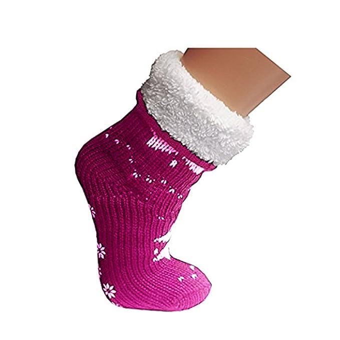 MB52 - Calcetines de estar por casa - para mujer rosa 39/42: Amazon.es: Ropa y accesorios