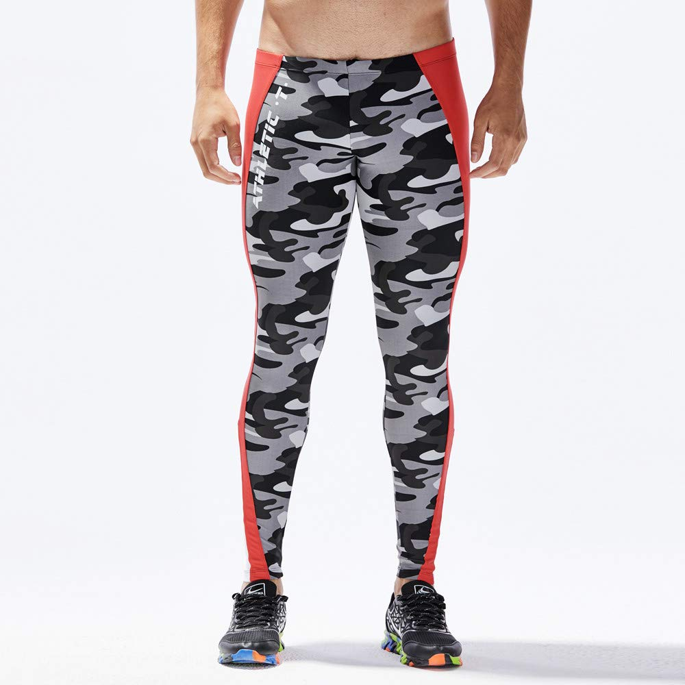 Men Workout Tights Running Gym Legging Base Layer Bottom Thermal Pants Sport Training S-XL Mens Fitness Pants Pingtr