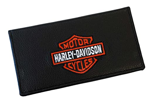 f211e691b7d Harley-Davidson Men s Embroidered Bar   Shield Checkbook Cover Black ...