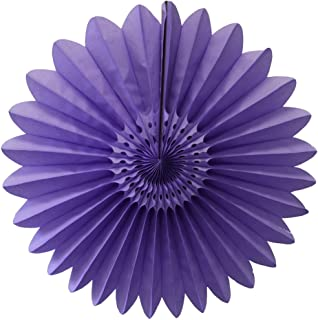 product image for 3-Pack 27 Inch Extra-Large Honeycomb Tissue Paper Party Fanburst Decoration (Lavender)