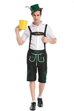 KINDOYO Disfraz de Alemán Oktoberfest Costume Hombres ...