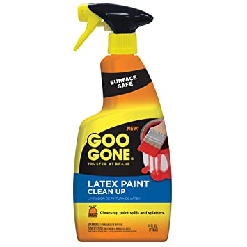 Goo Gone Latex Paint Cleaner, Surface Safe Clean Up Spray For Wet or Dry  Paint, 24 Ounce