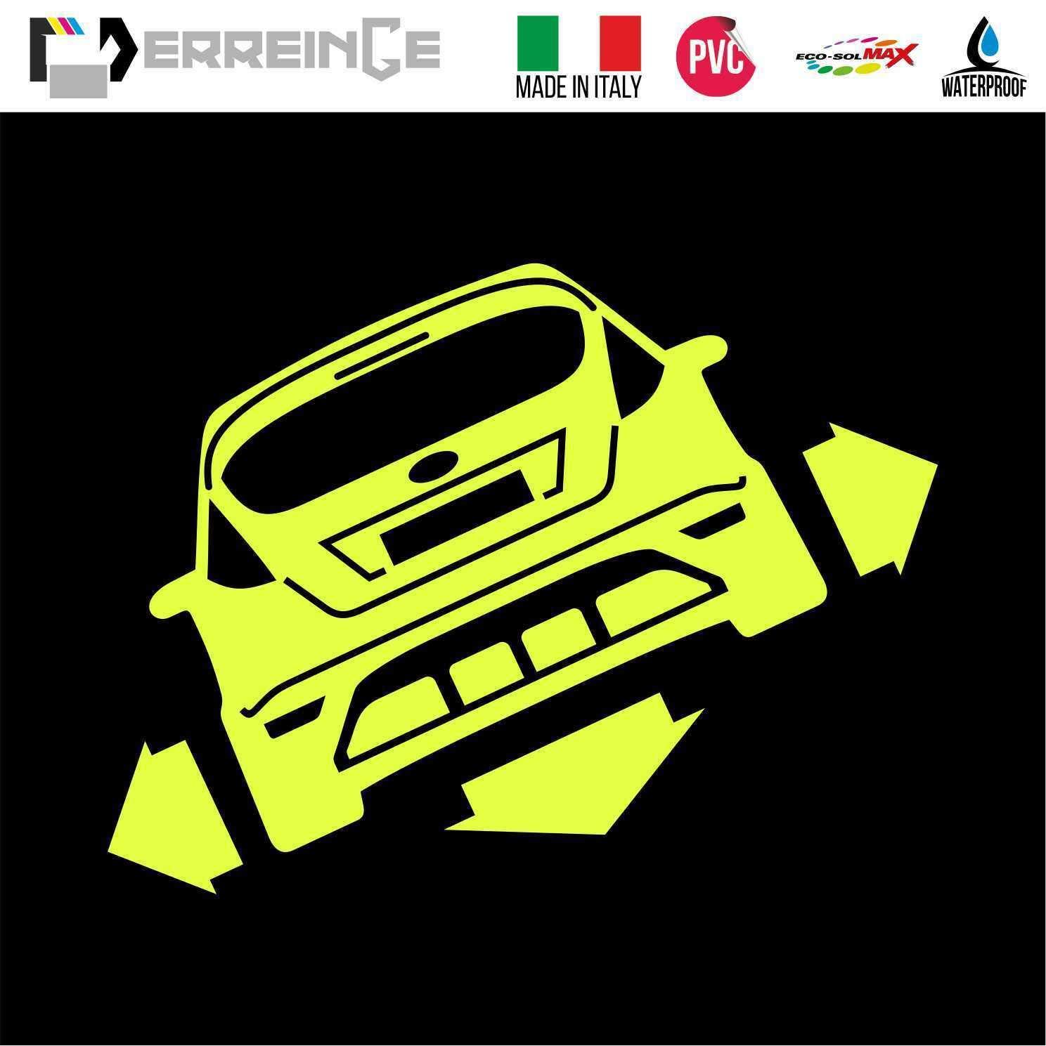 ERREINGE Sticker compatibile per FORD FIESTA DOWN OUT DUB JDM TUNING BIANCO Adesivo prespaziato in PVC per Auto Lunotto Finestrino cm 35