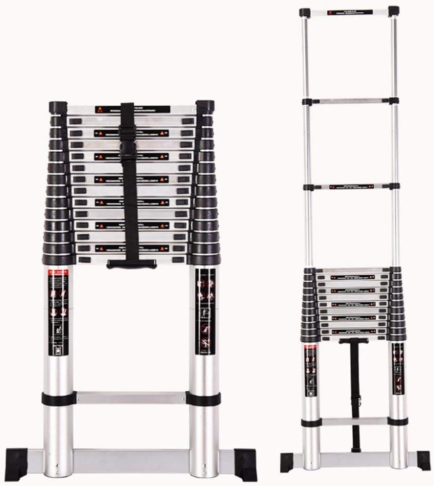 bxzcb Estante-Escalera-Soporte 2M -Escalera telescópica de una cara Escalera plegable-Escalera de aluminio engrosado-Escalera de bambú Inicio Elevación telescópica Loft Ingeniería Escalera Ayuda para: Amazon.es: Bricolaje y herramientas
