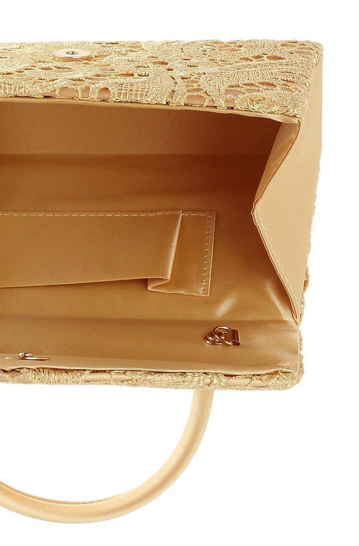 Girly HandBags Lace Satin Top Handle Clutch Bag Handbag Wedding Vintage Designer Womens Fashion