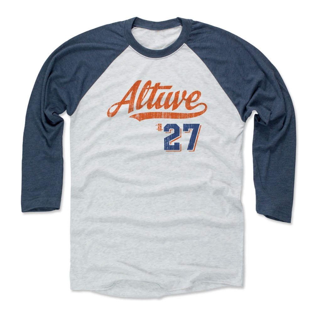 premium selection b45fb 1ea5e 500 LEVEL Jose Altuve Baseball Tee Shirt - Houston Baseball Raglan Shirt -  Jose Altuve Script