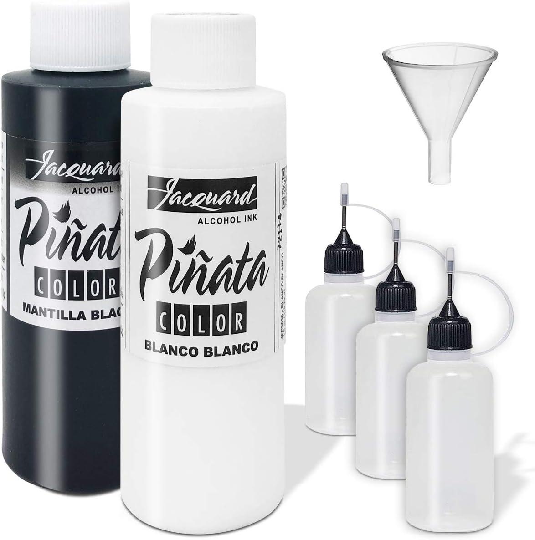 Jacquard Pinata Blanco y  Mantilla negro Alcohol Ink