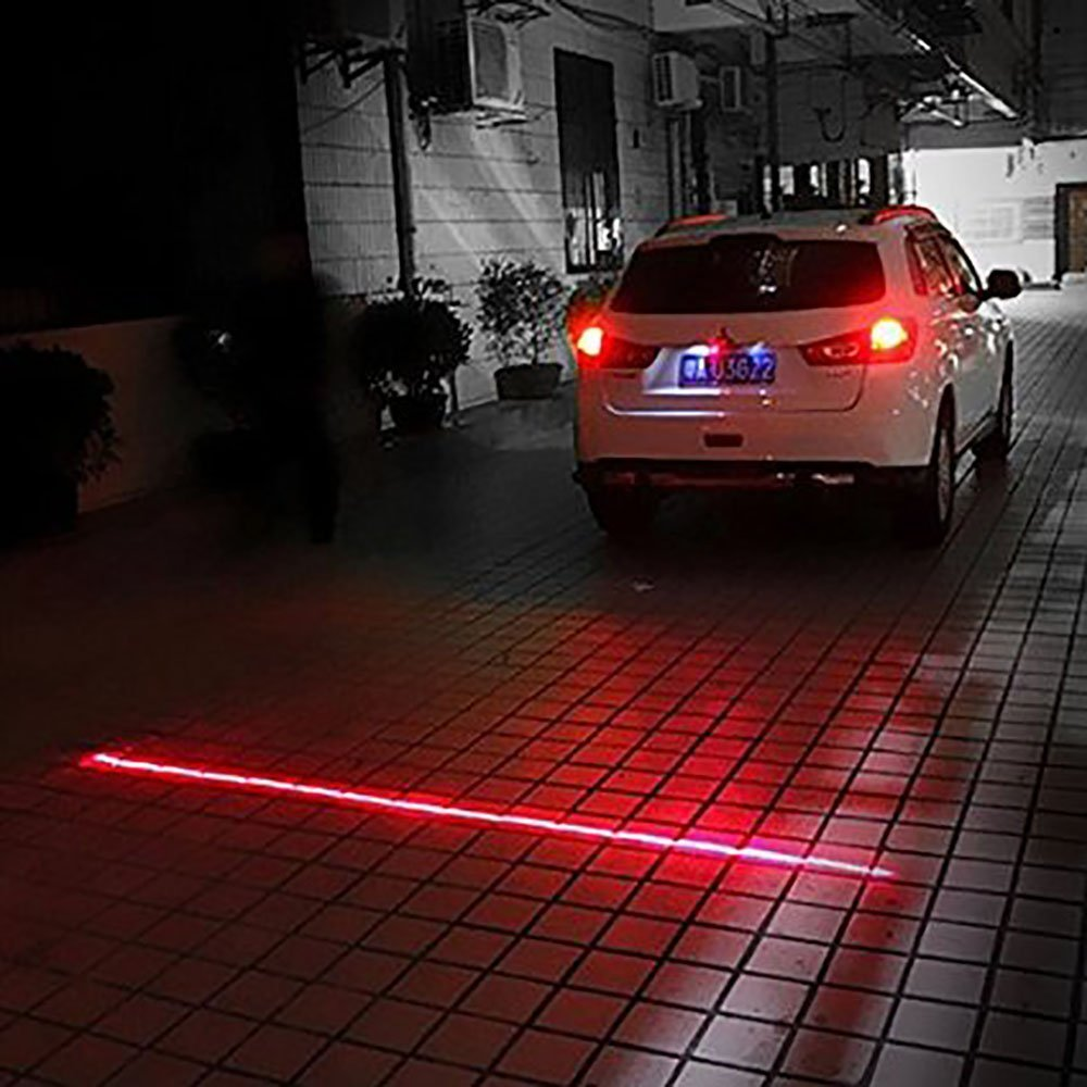 Qkking Universal Waterproof Anti-Fog Anti-Collision Anti-end Rear-end Car Laser Tail Auto Brake Parking Lamp Rearing Warning Light-Straight line