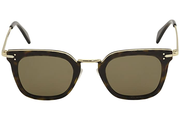 e7b7cc7ad3c Amazon.com  Sunglasses Celine 41402 S 0ANT Dark Havana Gold   X7 brown  lens  Shoes