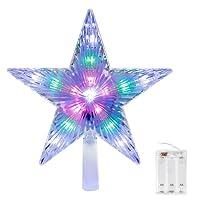 homiki LED Les étoiles de Sapin Haut de décorations d'arbres de Noël, changements dans la Mode étoiles de Noël décorations de Vacances colorées