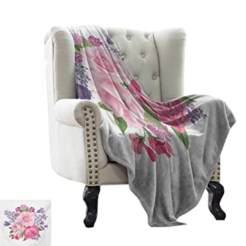 Amazon.com: Winter Warm Blanket Pink and White,Bridal ...