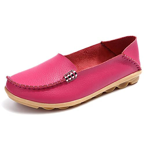 Amazon.com | Comfity Shoes for Women Womens Flats Moccasins Loafers Slip-On Flat Walking Pink | Loafers & Slip-Ons