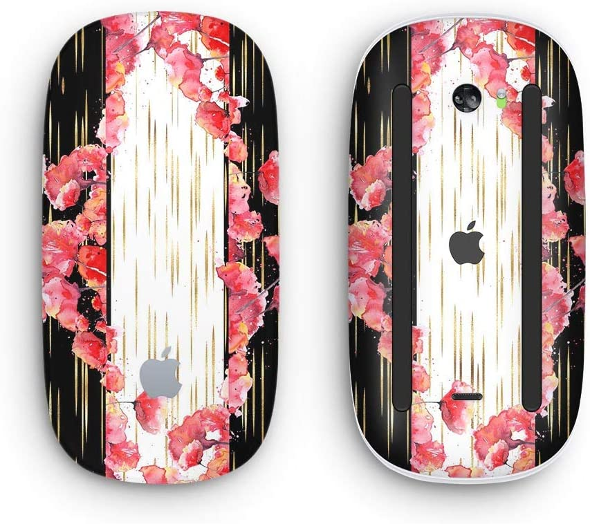 with Multi-Touch Surface Design Skinz Premium Vinyl Decal for The Apple Magic Mouse 2 Wireless, Rechargable Karamfila Watercolo Poppies V5