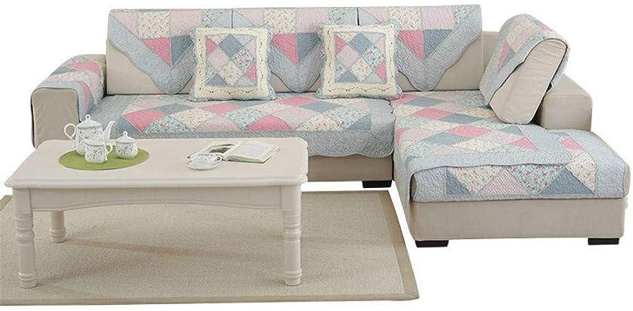 HKPLDE Funda Cubre Sofá Lavable Durable De Algodón, Funda De Sofá Jacquard Suave Protector De Muebles De Forma L Quilted para El Sofá-Algodón-90X120cm/35X47inch: Amazon.es: Hogar