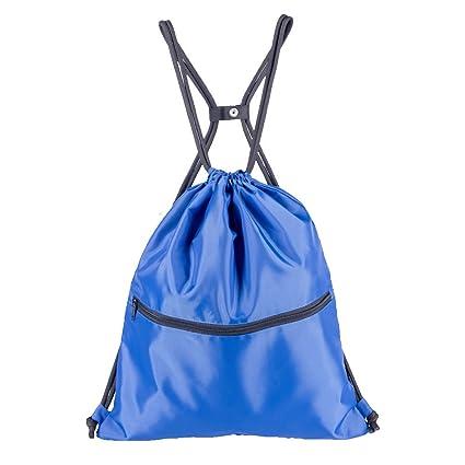 1ef12c30feed HOLYLUCK Men & Women Outdoor Sport Gym Sack Waterproof Drawstring Backpack  Bag(Blue)