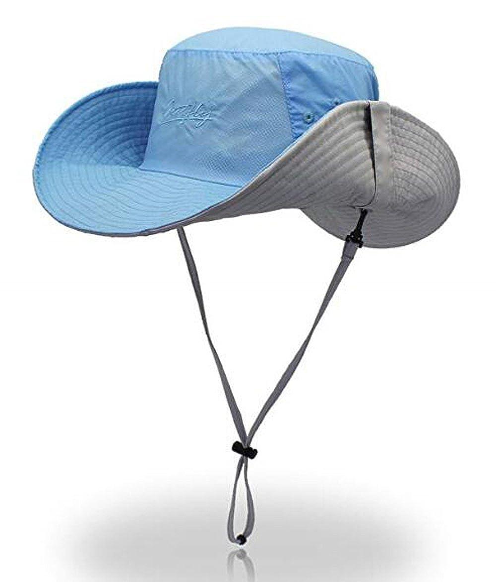 NOVPEAK Cappello Boonie impermeabile per esterno Cappello da sole per safari da pesca traspirante con tesa larga