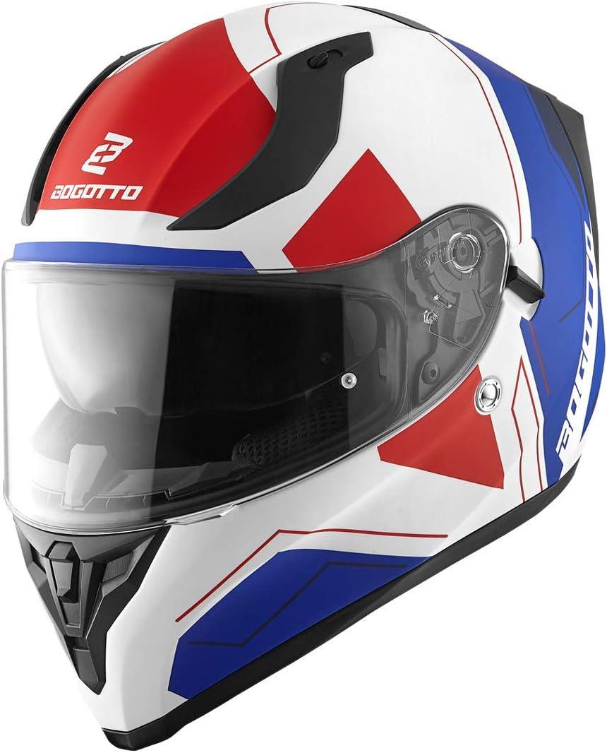 Bogotto V128 Strada Helm Schwarz Matt//Rot L