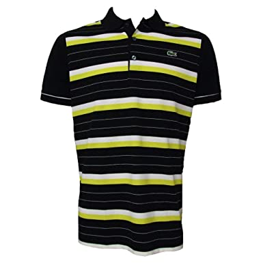 d93925b226 Lacoste Sport Polo Shirt - Black Yellow Stripe YH6721-00 - Size 5 ...