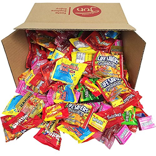 Candy Party Mix Bulk Bag of Skittles Swedish Fish Nerds Haribo Gummy Sour Patch Twizzlers Starburst Mike and Ike Custom Varietea Peppermints n' more! Net wt (96 (Nerds Sour)