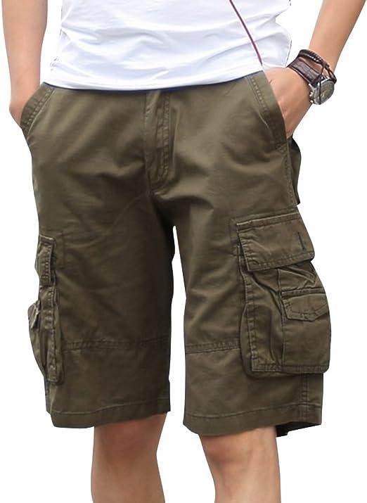 Hombre Al Aire Libre Bermudas Pantalones Corto Rectos ...
