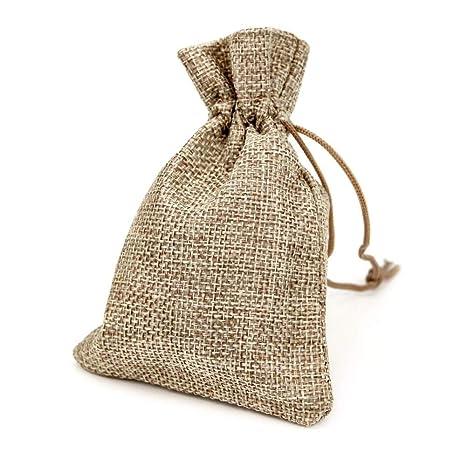 RUBY - 50 Bolsitas saco de yute 11,5 x 8,5cm para regalo ...