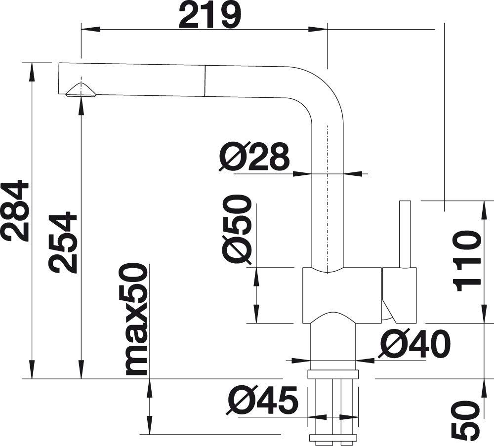 chrome BLANCO Linus de s Vario Robinet de cuisine surface m/étalliques 516692 haute pression