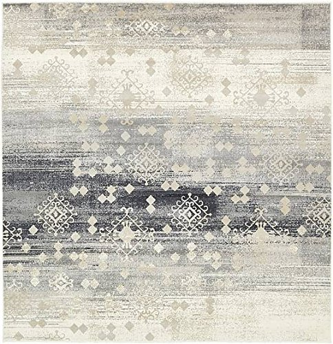 Unique Loom Mirage Collection Dark Gray 6 ft Square Area Rug (6' x 6') - 6 Square Rug
