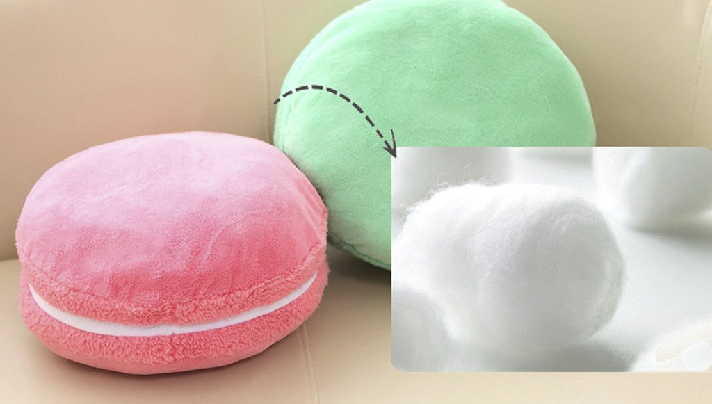 ChezMax Creative Macaron Shaped Cushion Plush Round Pillow Decorative Throw Pillow 14.5''