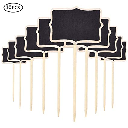Amazon.com: Aolvo Mini Chalkboard Stakes, 10pcs Mini ...