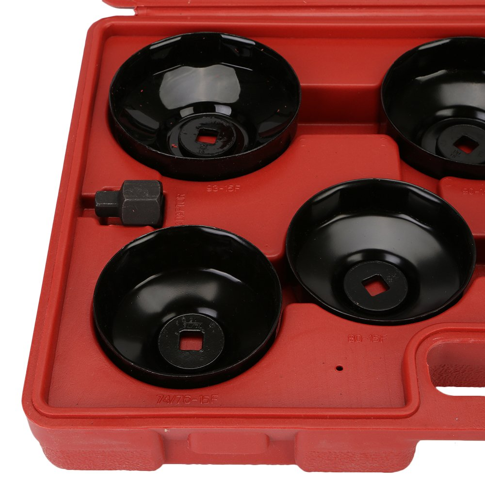 DIFEN Universal Oil Change Filter Cap Wrench Cup Socket Tool Set (14PCS/Set) by DIFEN (Image #5)