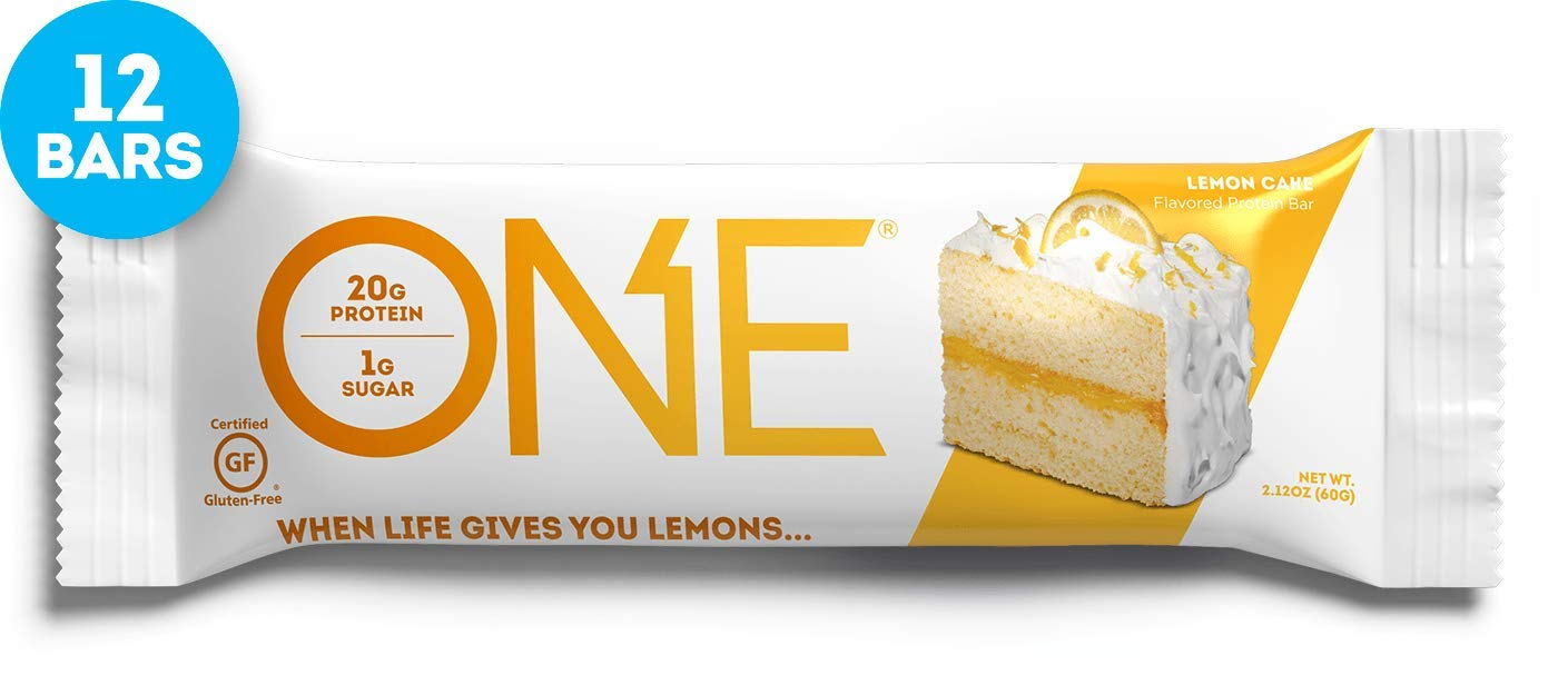 Amazon ONE Protein Bars Lemon Cake Gluten Free