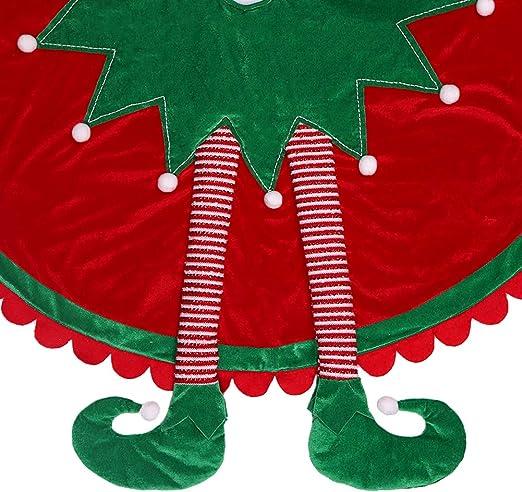 Valery Madelyn 91cm Falda del árbol de Navidad con Pierna de Elfo ...