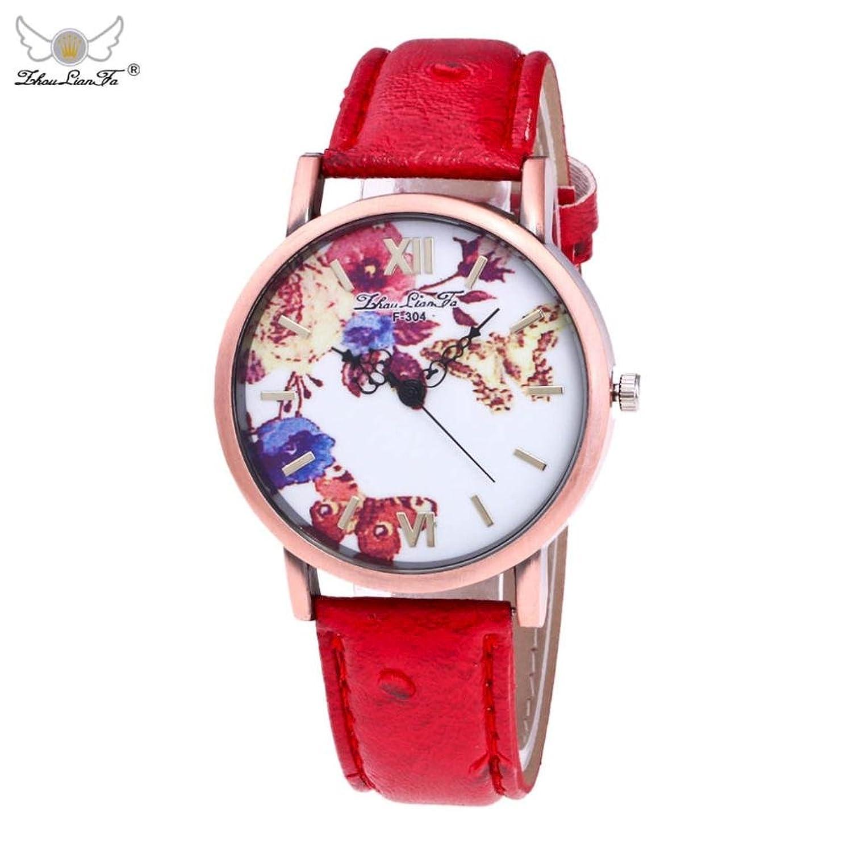 メスチャーム腕時計, sinmaシンプルバタフライパターンブレスレットウォッチアナログクオーツ腕時計 B071P1PVY2 ブラック