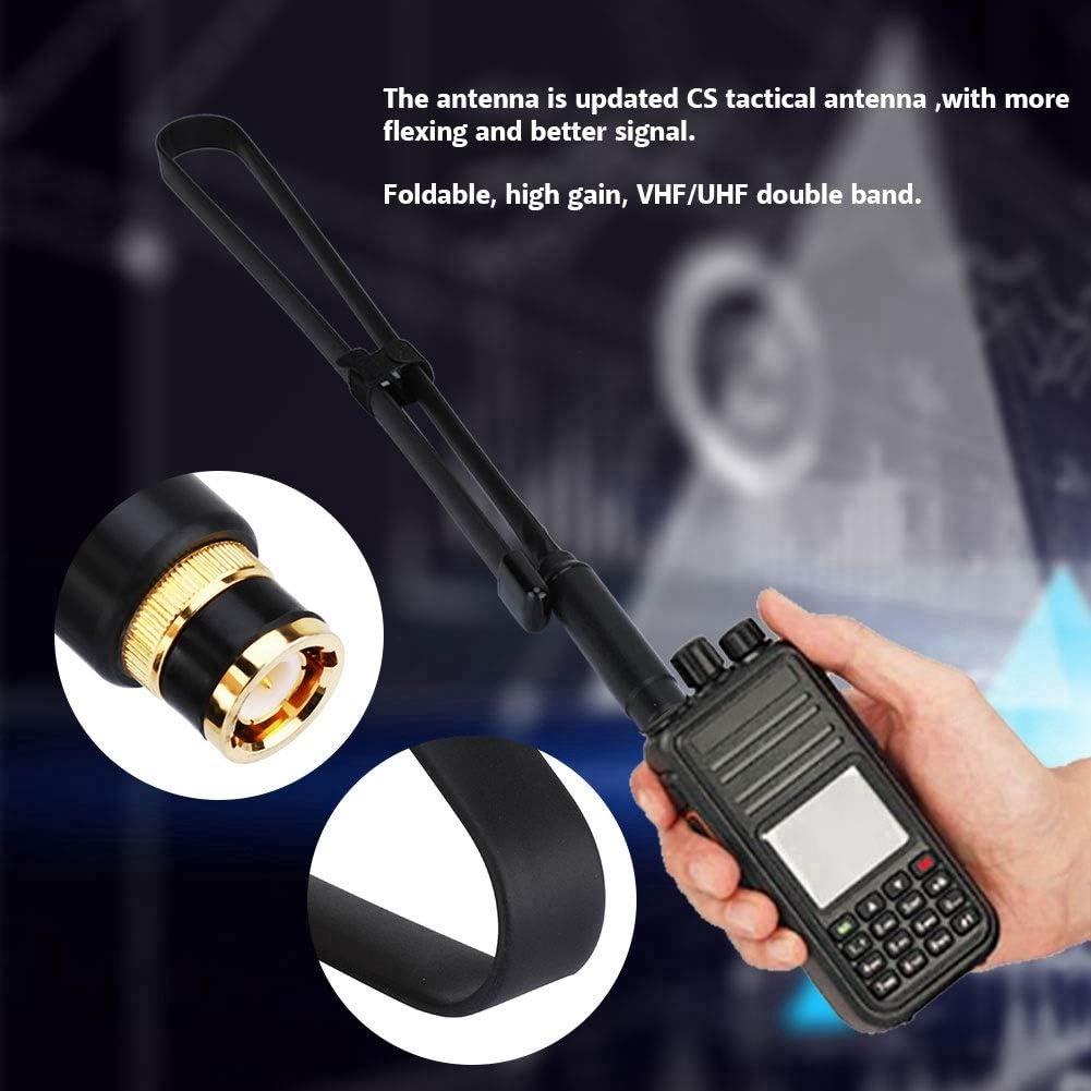 Plegable BNC-Macho Antena U//V Banda Dual Tactical Antena 144 430MHz Antena de Alta Ganancia Soft para Walkie Talkie