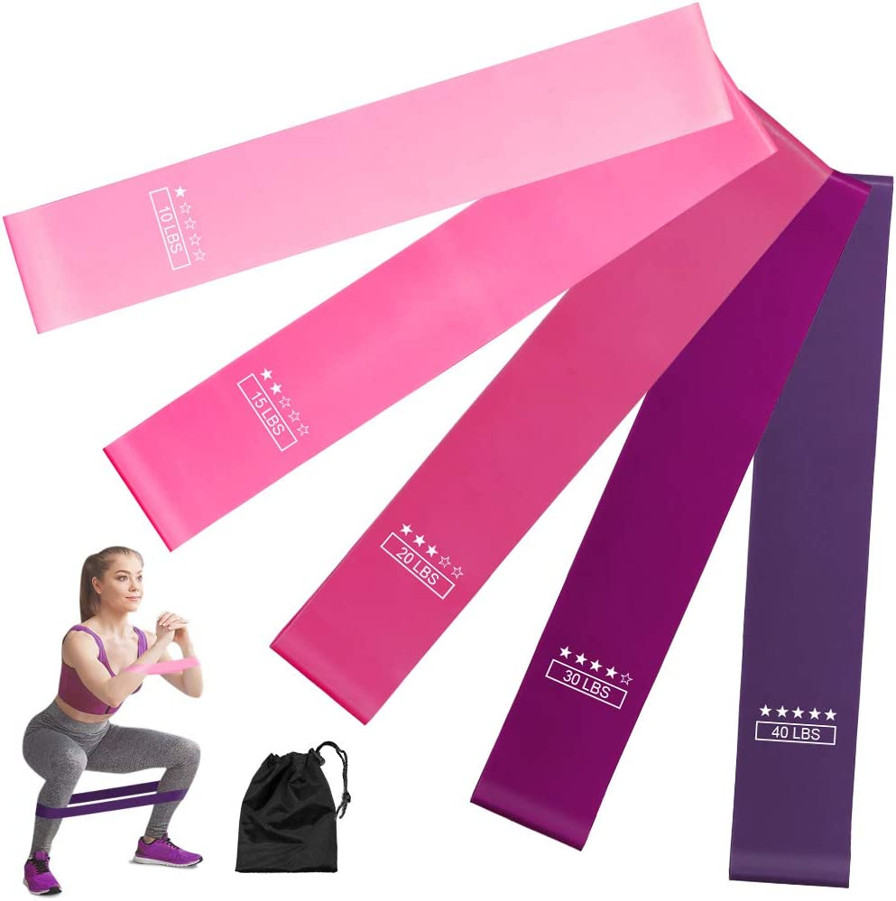 Resistance Loop Band Yoga Pilates Workout Exercise Band Fitness StrengthTraining