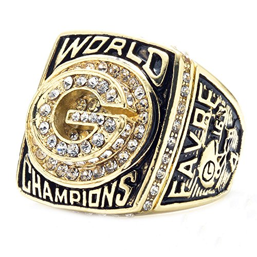 LANCHENEL 1996 Mens Titanium Steel Green Bay Packers Championship Rings,Size - Ring Bay Packers Green