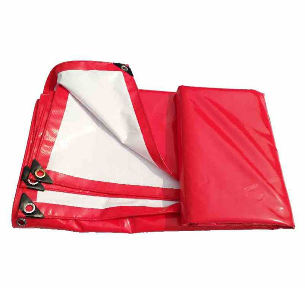 ZEMIN オーニング サンシェード ターポリン 防水 日焼け止め シート テント スプライス ルーフ 防風 布 ポリエステル、 赤、 500G/14サイズあり (色 : 赤, サイズ さいず : 4X5M) B07CZJ3H5F 4X5M 赤 赤 4X5M