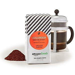 AmazonFresh Colombia Ground Coffee, Medium Roast, 12 Ounce (Pack of 3)