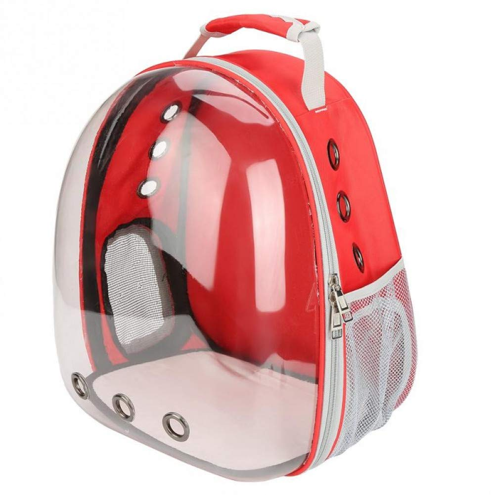 Red 43x32x26cm Red 43x32x26cm ZIOFV Package 4 colors Breathable Small Pet Carrier Bag Portable Pet Outdoor Travel Backpack Dog Cat Carrying Cage