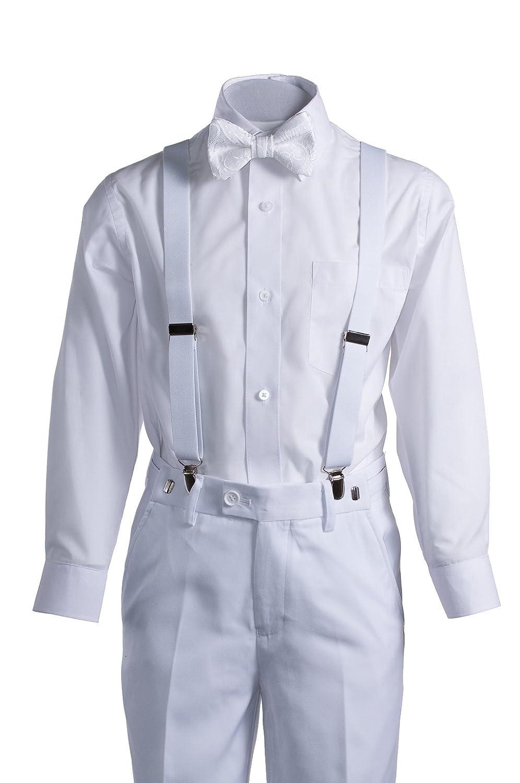 Amazon.com: Boys Blanco Slim Fit Comunión Suit Ligueros ...
