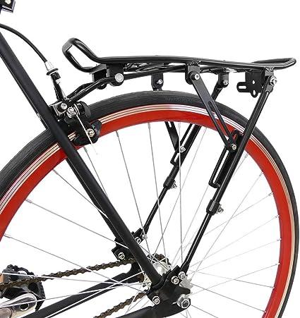 PrimeMatik - Portaequipajes metálico Trasero de Bicicleta con ...