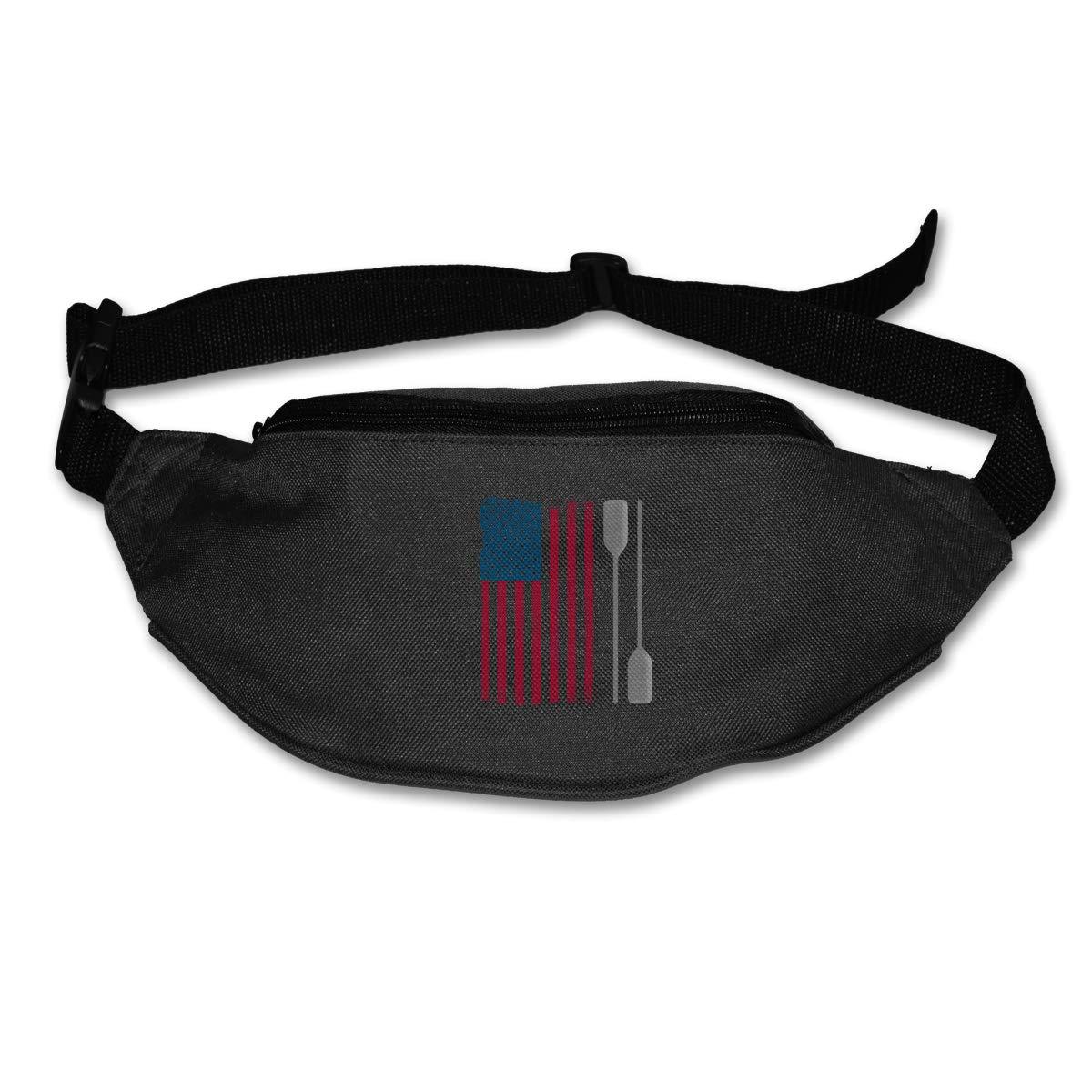 USA Flag Kayak Sport Waist Bag Fanny Pack Adjustable For Travel