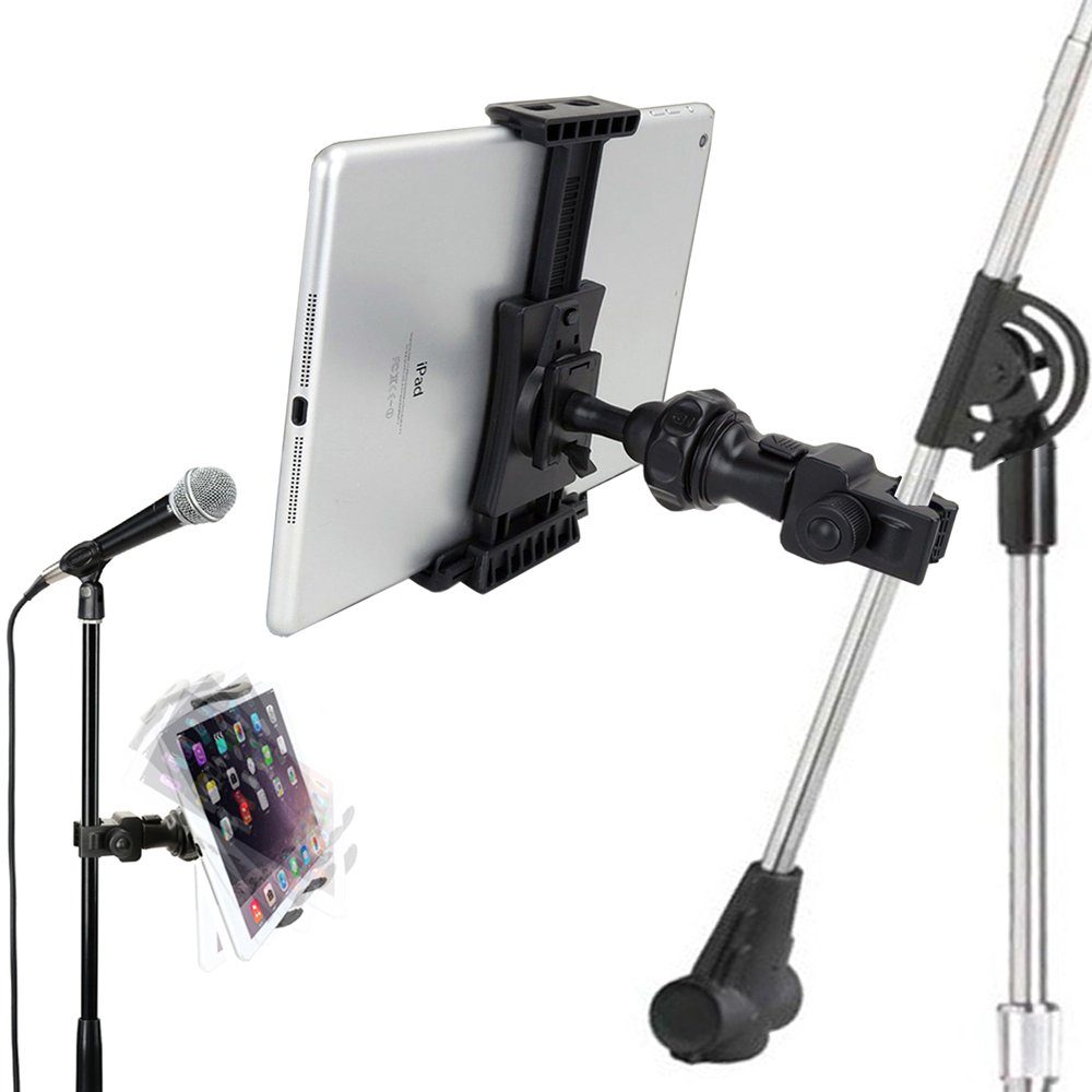 reputable site eebae 1eba3 Accessory Basics QuickLock Microphone Music Mic Stand Pole bar Mount for  Apple ipad Pro Air Mini Galaxy Tab S9 S10 Note iPhone XR XS MAX X 8 Plususe  ...