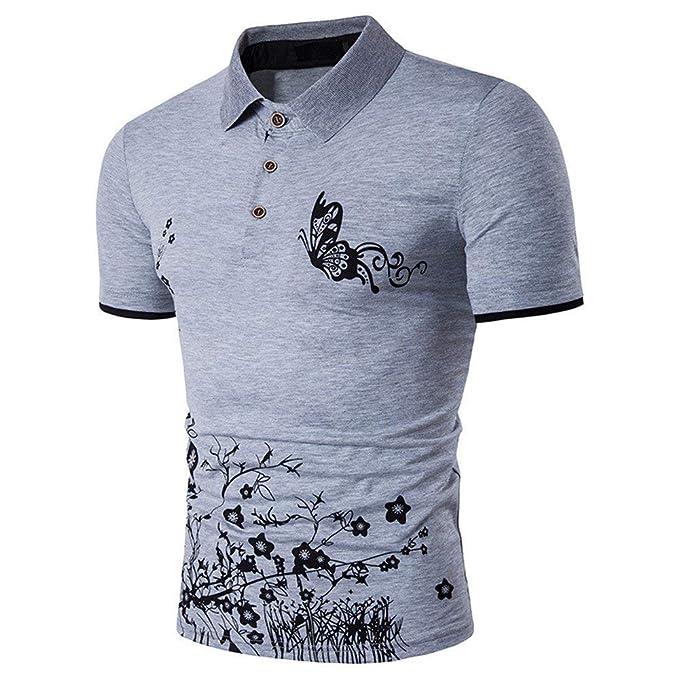 Camisa De Manga Corta Poloshirt Polo Polo Leotardo Camisas Polo Camisa De  Joven Hombre Hombre Estampado Floral Solapa En Europa Y América Camiseta   ... 99622371cfd1b
