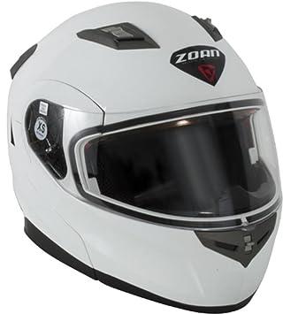 Zoan Flux 4.1 Casco de nieve sólido con doble lente (blanco, XXL)