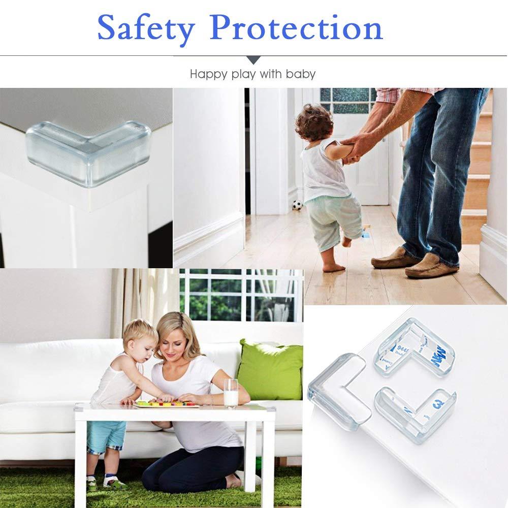 Weicher Kinder Sicherheits Schreibtisch Corner Protector Tischeckenschutz TONWON Baby Safety Corner Protector 12 Pack Tisch Ecken Schutz mit 3M Starkem Klebstoff f/ür Kinder und Babys Schutz