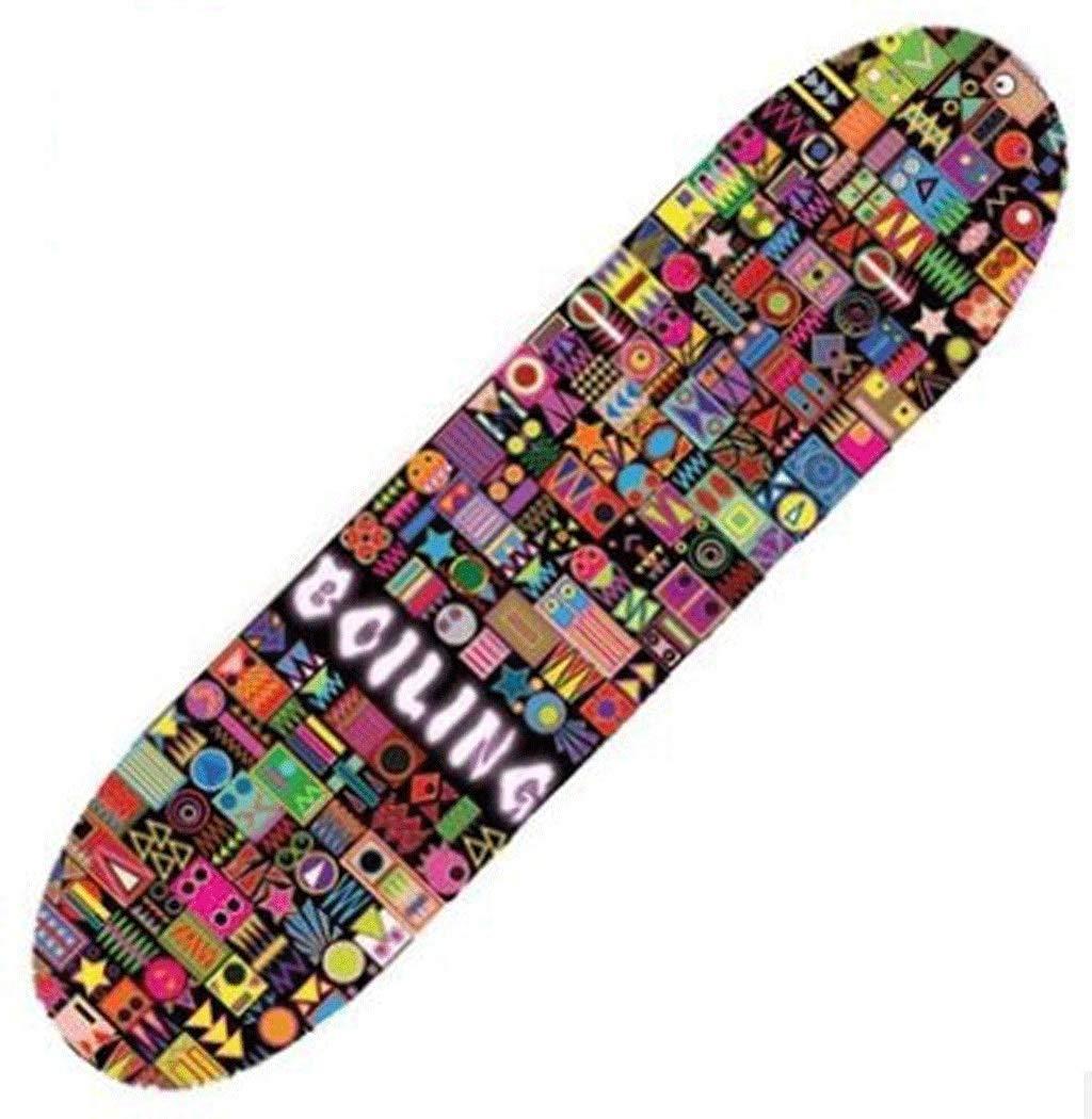 スキルバイラテラルスロープボードスケートボードストリートトラベルショートボード初心者スケートボード4輪アダルトスケートボード B07KLY8PNX (色 : 白) : B07KLY8PNX (色 カラフル カラフル, ギフトプラス:1d32d78d --- grupocmq.com