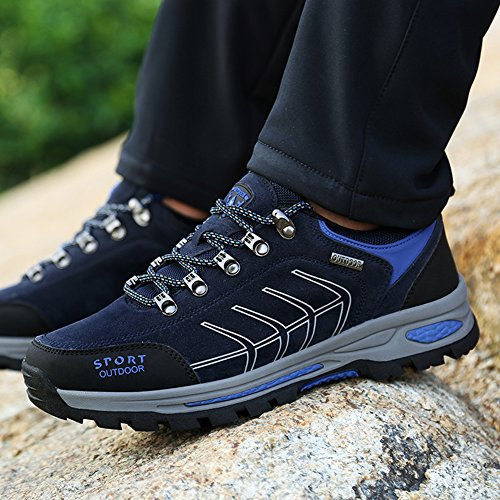 Eagsouni Men's Women's Hiking Trekking Climbing Shoes Outdoor Sports Winter Warm Sneakers Navy Blue 3QxvPb1