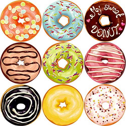 (Fancy Land Donut Perforated Roll Stickers for Kids 200pcs Party Decor School Reward Sticker)